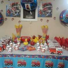 Zyair 4th Birthday - Fire Fighter