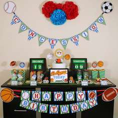 Sports birthday party - All Sports Birthday Party