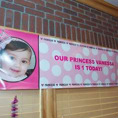 Vanessa's 1st Birthday Party - Princess theme