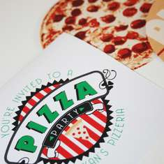 Pizza Party Invite: pizza in a box - Make Your Own Pizza