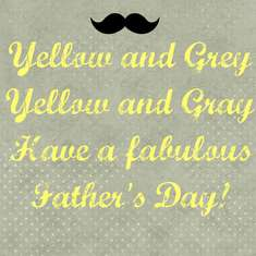 Father's Day Party - Yellow & Grey