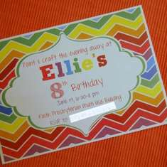 Neon Chevron Rainbow Birthday Party - Neon Chevron Rainbow