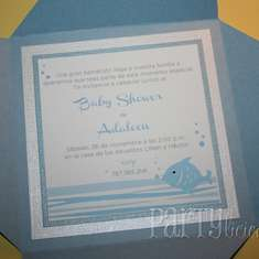 Blue Fish Baby Shower - None