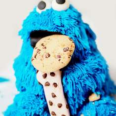 Logan's Cookie Monster Cookie and Milk party - Cookies and Milk Party Featuring Cookie Monster!