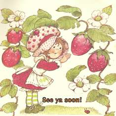Vintage Strawberry Shortcake - Red, Green and Pink
