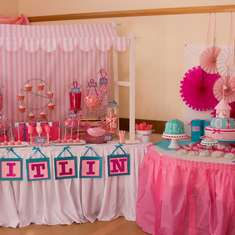 Kaitlin's Pretty in Pink 1st Birthday - carnival party