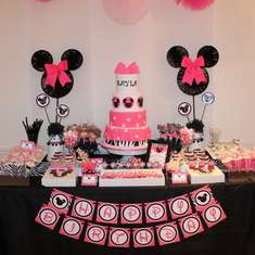 Pink + Zebra Minnie Mouse Party - Minnie Mouse