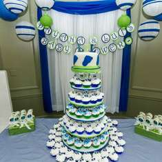 NAVY AND APPLE GREEN BABY SHOWER - None