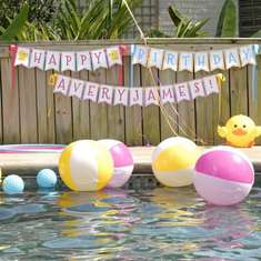 Avery James turns TWO! - Rubber Ducky Pool Party