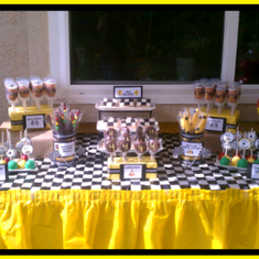 black and yellow - Race Car Party