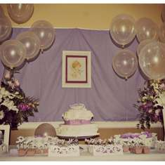 Isabella's Baptism - white and Lilac