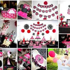 Minnie Mouse 1st Birthday Party in Hot Pink, Zebra, and a touch of Damask - Minnie Mouse