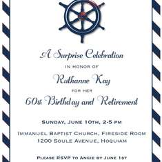 Classy Nautical Birthday/Retirement Party - Nautical
