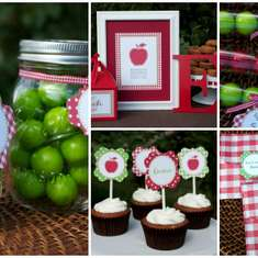 Apple Themed Birthday - Apples