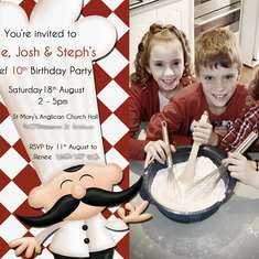 Triplets 10th Birthday Master Chef Party - Chef Party,  Baking And Cooking