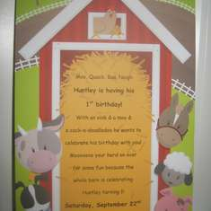 Huntley's First Birthday - Barnyard/Farm