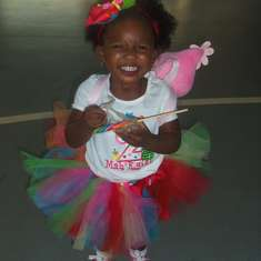 Mah'Kyiah 2nd BIRTHDAY - Yo Gabba Gabba and Rainbow Colors