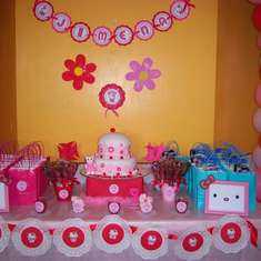 Jimena's 7th Birthday - Pink and red Hello Kitty