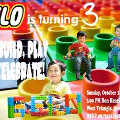 Gelo's Lego 3rd Birthday Party - Lego Inspired Party