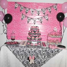Co-worker baby shower - zebra minnie mouse