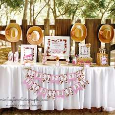Maddison's Cowgirl Birthday - Vintage shabby chic cowgirl party