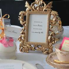 Afternoon tea for my besties - Aa bride to be asks us to create a pretty setting as she planned to ask her best friends to stand by her on her special day