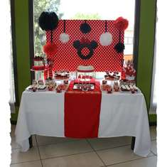 Minnie Mouse Red, Black & White Dessert Table - Minnie Mouse
