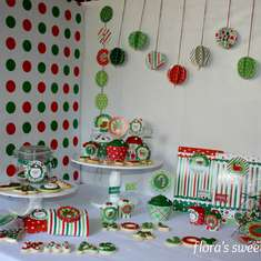 Christmas Sweet Treats Table - Christmas Photo Shoot