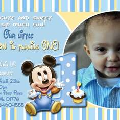 Stefon's 1st birthday - Baby Mickey Mouse