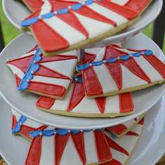 Run Away With The Circus styled dessert table - Circus