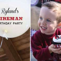 Ryland's Fireman Birthday! - Sound the Alarm... Ryland is 3!