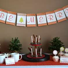 Sweet Holiday Reindeer Party - Christmas
