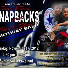 Taylor & Tyson's 9th Birthday Skate Party - Snapback & Converse
