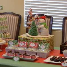 Christmas Gathering - red, green, and white Christmas