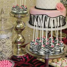 Zebra Theme Baby Shower  - Pink/Zebra Theme