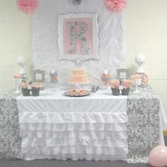 Pink + Gray Damask Baby Shower - Pink + Grey Damask Baby Shower