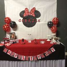 Charlie turns 1 - Minnie Mouse Polka dots