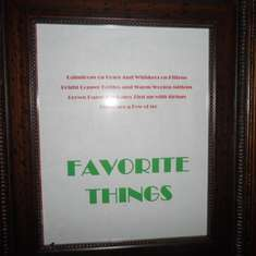 Favorite Things Party (Ladies Night) - Favorite Things