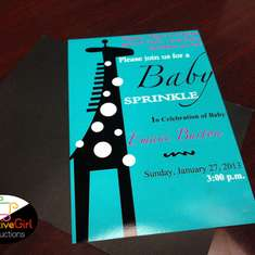It's a Girl! Tiffany Blue & Giraffe Print Babyshower - None