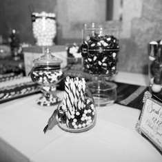 Black & White Candy Buffet - Black & White Snowflake Theme