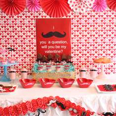 """I Mustache You to Be Mine"" Valentine's Day Breakfast - mustache party"
