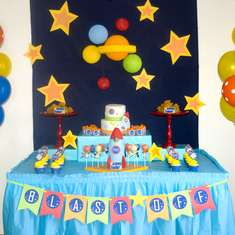 Logan's 5th Birthday - rocket/space
