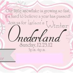 Leilani's Winter Onederland - winter wonderland