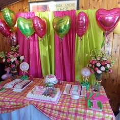 Kyli's 1st Birthday - Pink & Green