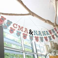 Cma & Nana Baby Shower - Rustic Owl (Boy & Girl)