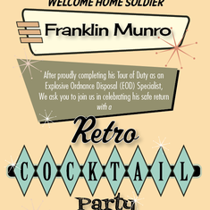 Welcome Home Franklin - Retro Cocktail Mad Men