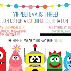 Yo Eva Eva! Party - Yo Gabba Gabba and Rainbow Colors