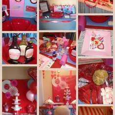 red pink and blue valentine party - red pink and blue
