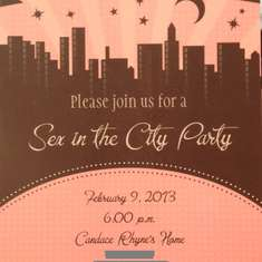 Girls Night Out  - Sex and The City Party