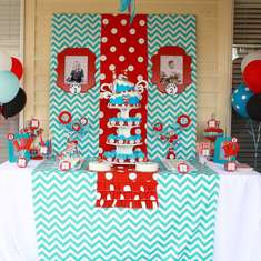 Dr. Seuss Thing 1 and Thing 2 1st Birthday Party for Twins - Dr. Seuss